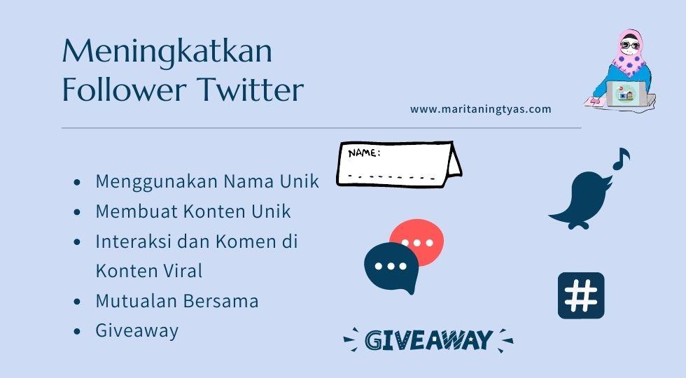 meningkatkan follower twitter