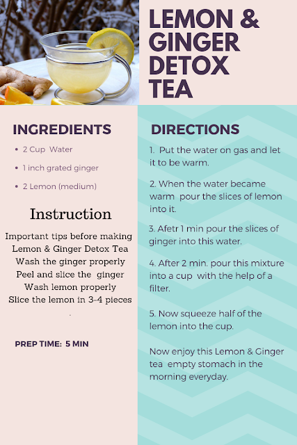 Lemon & Ginger Detox tea | Lose Weight Within a Few Weeks | Weight Loss Tips