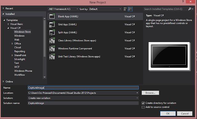 Simple Camera Capture on C# | Windows 8