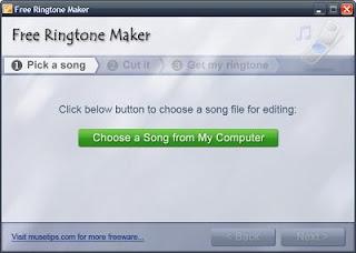 البرنامج المجانى Free Ringtone Maker Portable 2.4.0.2881 لعمل النغمات