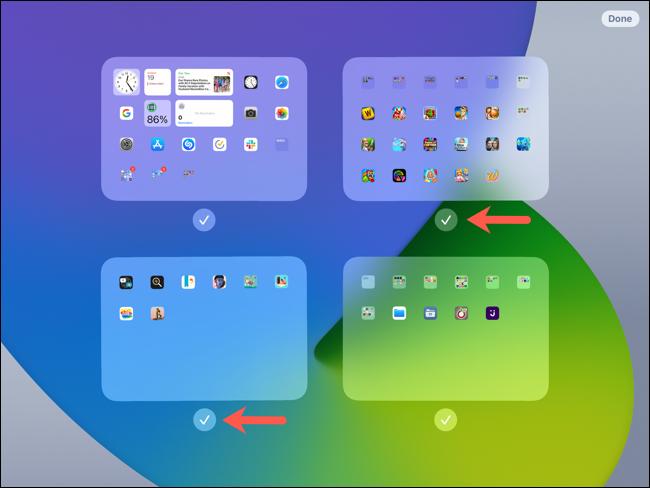 تحرير الشاشة ، وعلامات الاختيار لعرض الشاشات