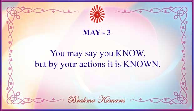 Thought For The Day May 3