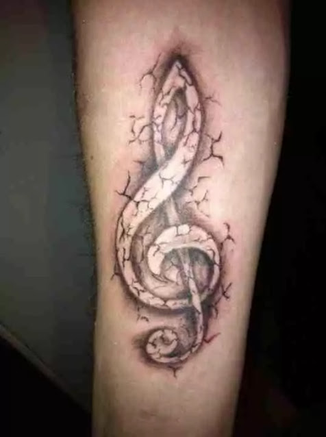 Crazy Music Tattoos Designs Men
