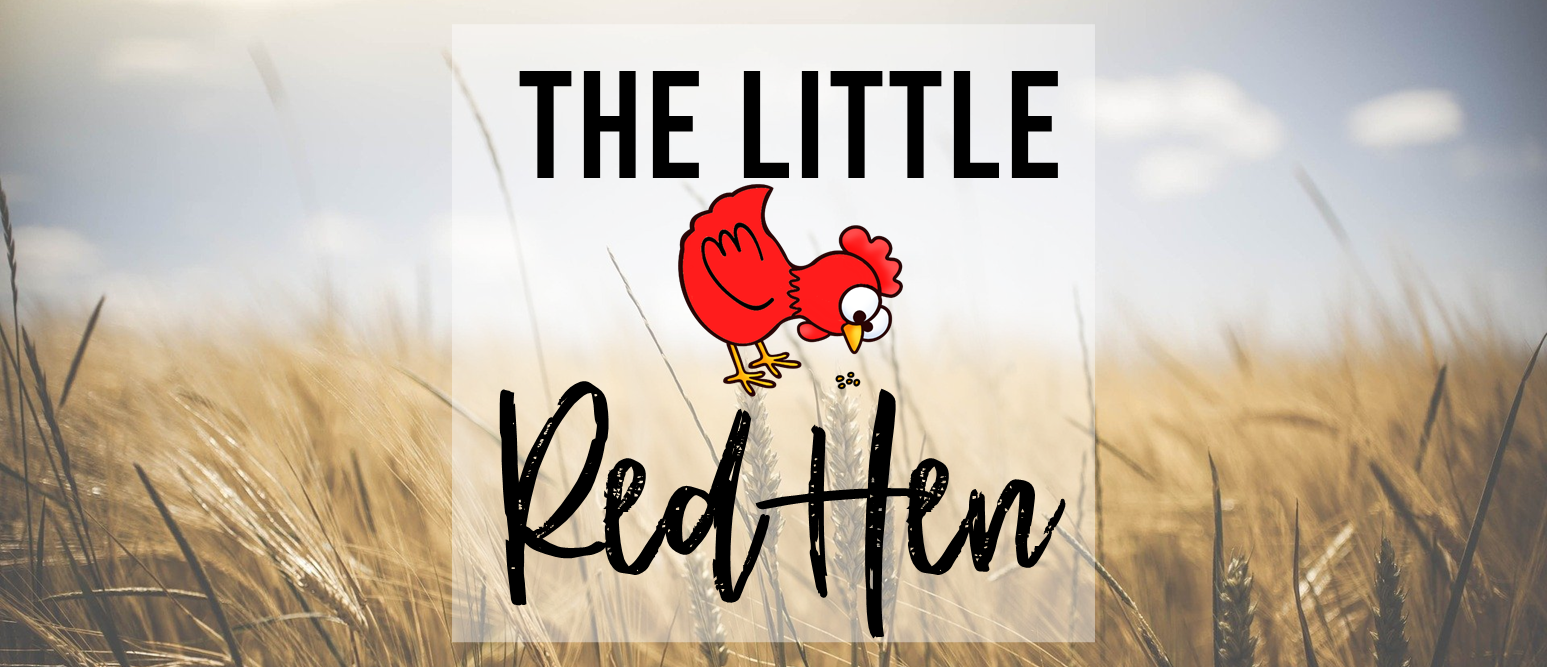 Little Red Hen book study literacy unit with Common Core aligned companion activities, class book & craftivity for Kindergarten & First Grade