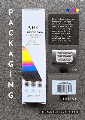 Packaging-AHC-Luminous-Glow-Real-Eye-Cream-for-Face-bintangmahayana-com