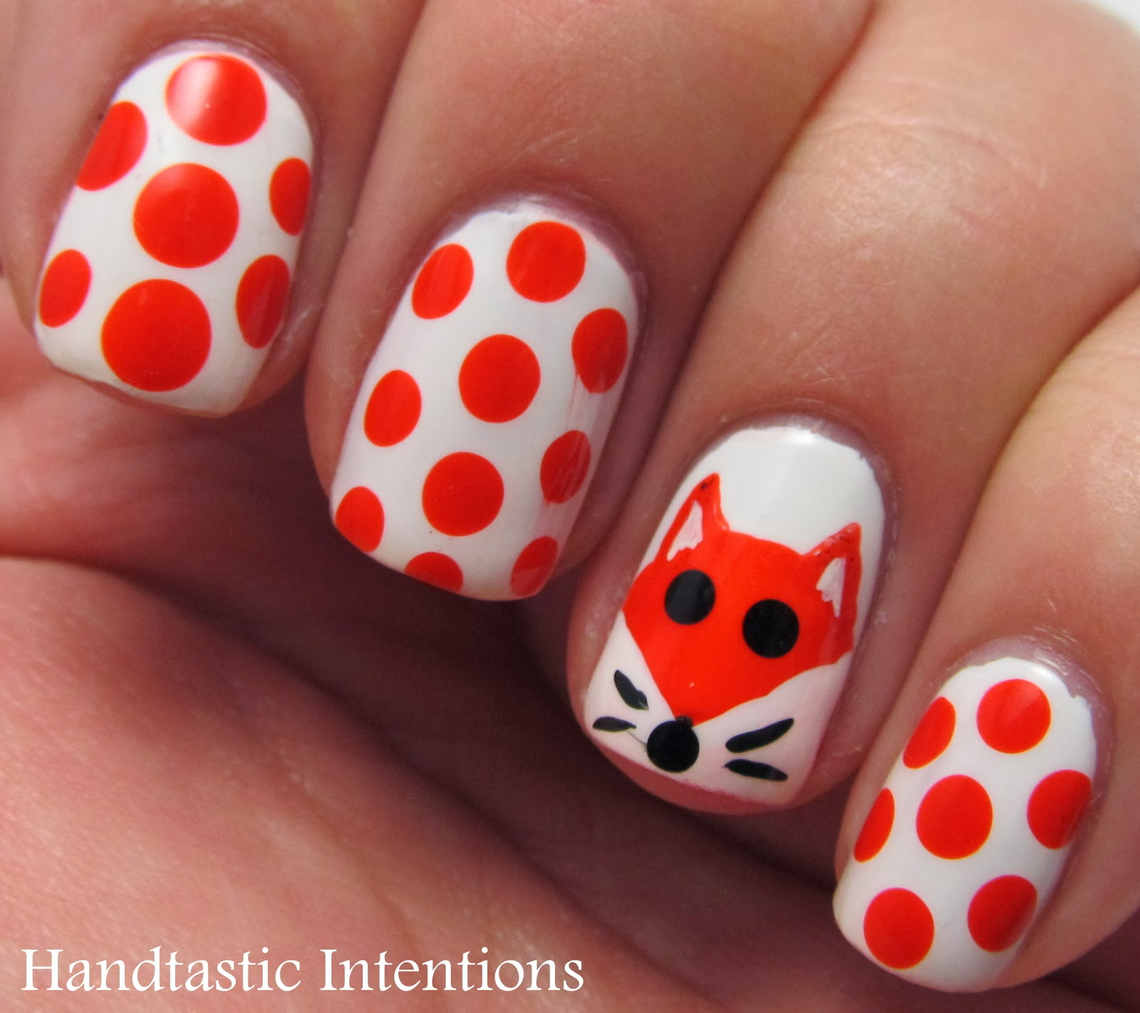 Fox Nail Designs: Handtastic Intentions: Nail Art: Fox For Nail Art November