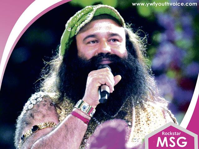 Saint Dr. Gurmeet Ram Rahim Singh Ji Insan Singing Picture In Rubru Night Holding Mike, Dr. MSG, Saint Ram Rahim, Dr. Ram Rahim pic