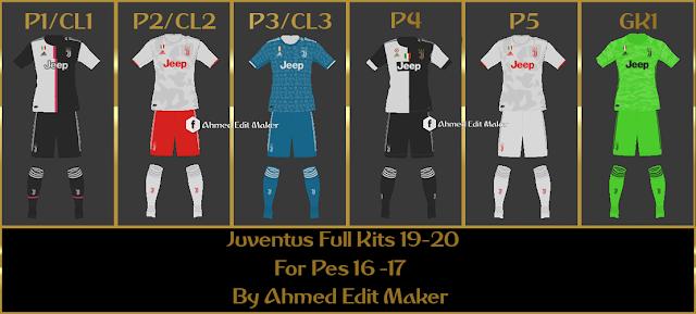 PES 2017 Juventus Full Kits 19 - 20 By AhmedEditMaker