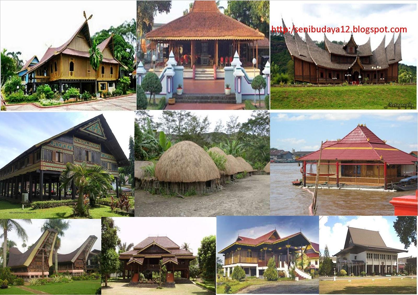 Seni Budaya Rumah Adat Tradisional Suku Daerah Di 34 Provinsi