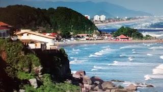 Cidade de Itanhaém, no litoral sul de São Paulo