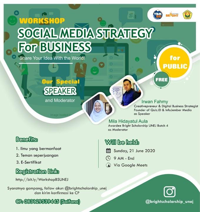 WORKSHOP SOCIAL MEDIA STRATEGY FOR BUSINESS