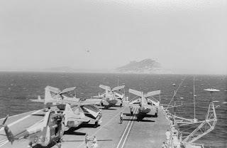 HMS Hermes approaching Gibraltar