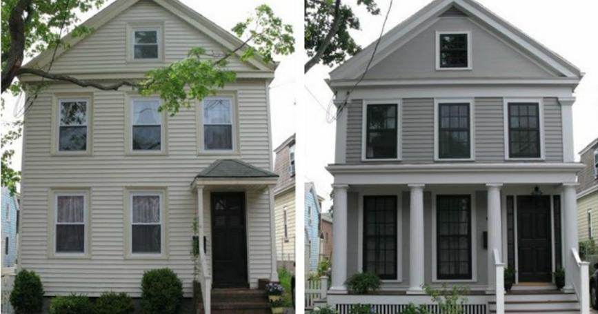 An Urban Cottage: Greek Revival Exterior Renovation