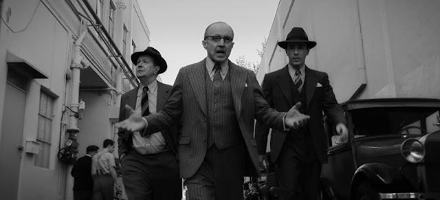 Gary Oldman, Arliss Howard y Tom Pelphrey. Imagen de Netflix.