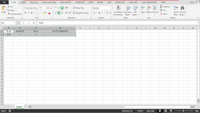 Working with Cell referencing (Date Function)