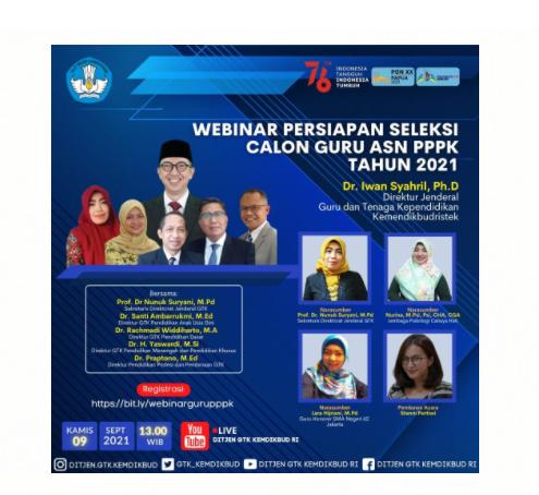 gambar Webinar Persiapan Seleksi Kompetensi PPPK Guru Tahun 2021