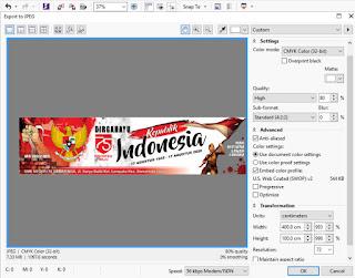 Cara Export File siap CETAK