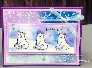 Watercolor Card using the Warm & Toasty Stamp Set.  Set to learn more!