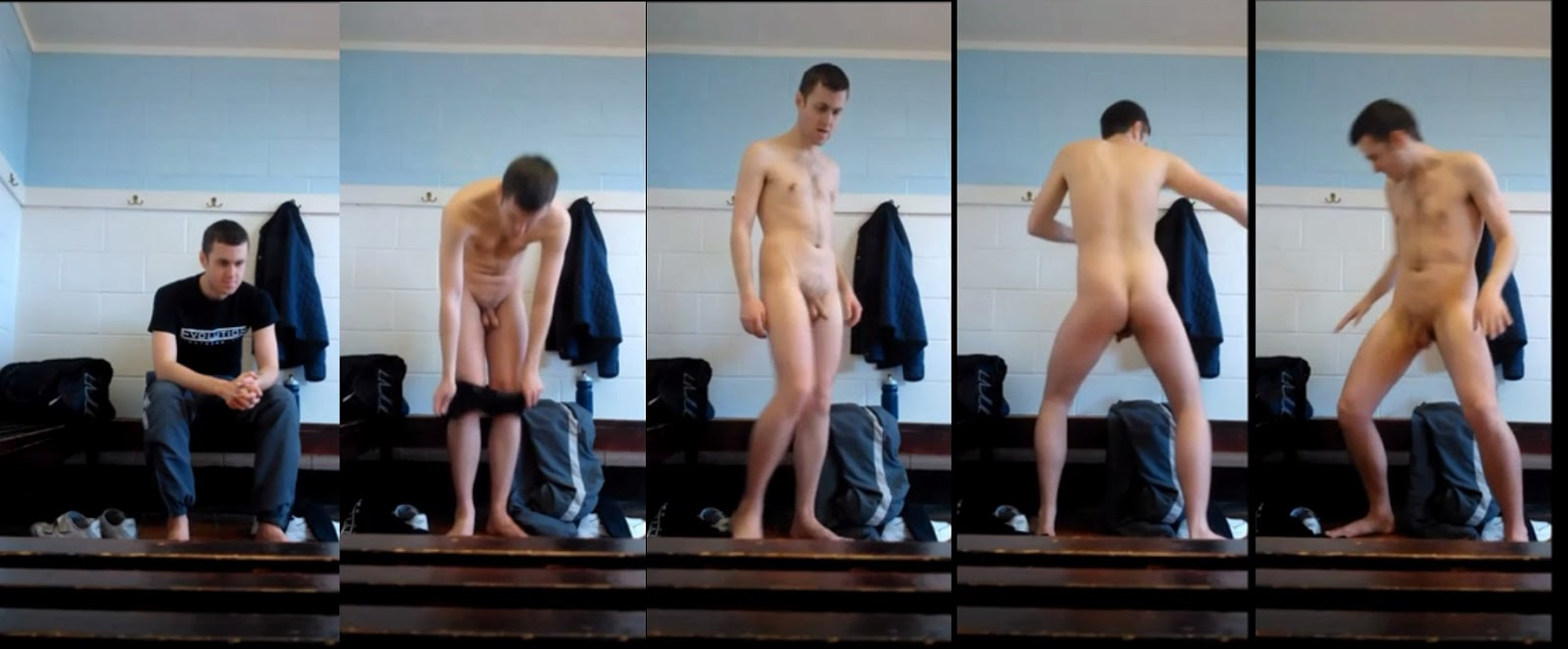 guy changing clothes