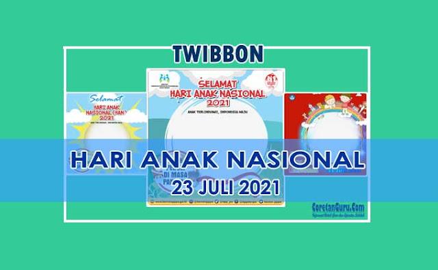 Twibbon Hari Anak Nasional 2021 Anak Terlindungi Indonesia Maju