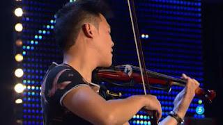 Javi Lin y su violín. Bailando de Enrique Iglesias. Got Talent