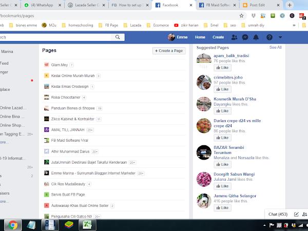 Kemaskini Facebook Page Punyalah Banyak Page!
