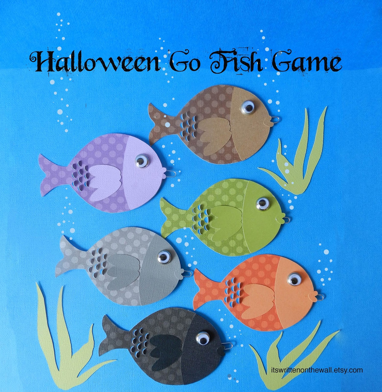 It 39 s written on the wall halloween go fish game fun for for Fish and game