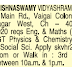 Shri Krishnaswamy Vidyashram CBSE school Chennai conducted Walk in for Teachers for various subjects