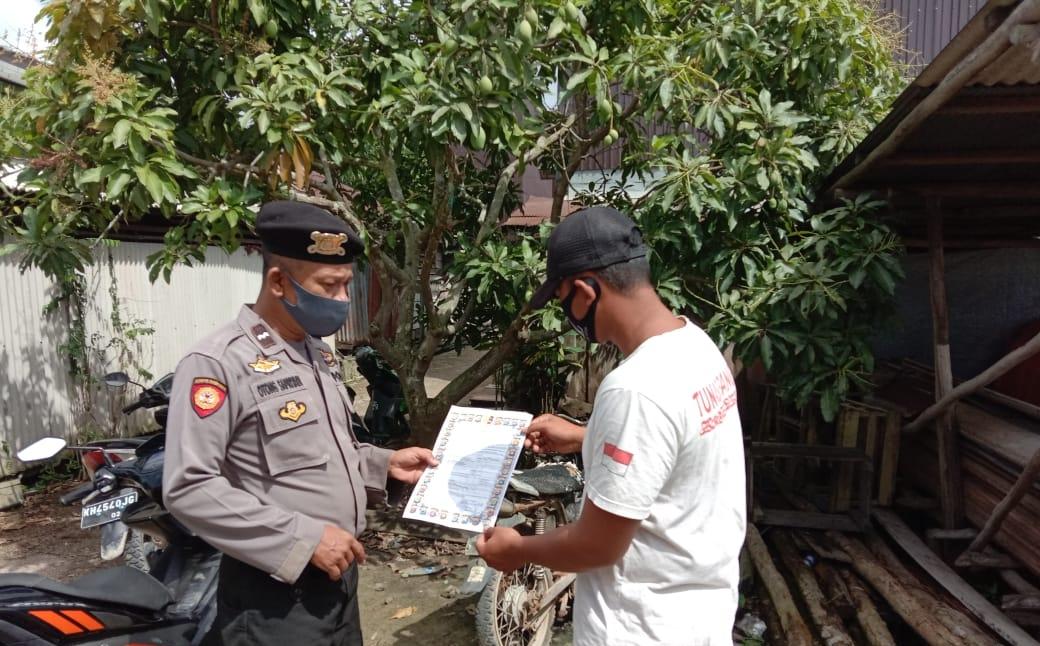 Tak Bosan, Unit Sabhara Polsek Sebangau Kuala Imbau Warga agar Tidak Bakar Hutan dan Lahan