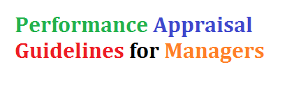 Performance Appraisal Guidelines for Managers
