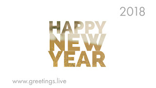 Gold shaded new year greetings