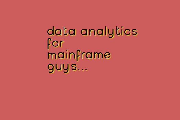 analytics tutorial for COBOL developers