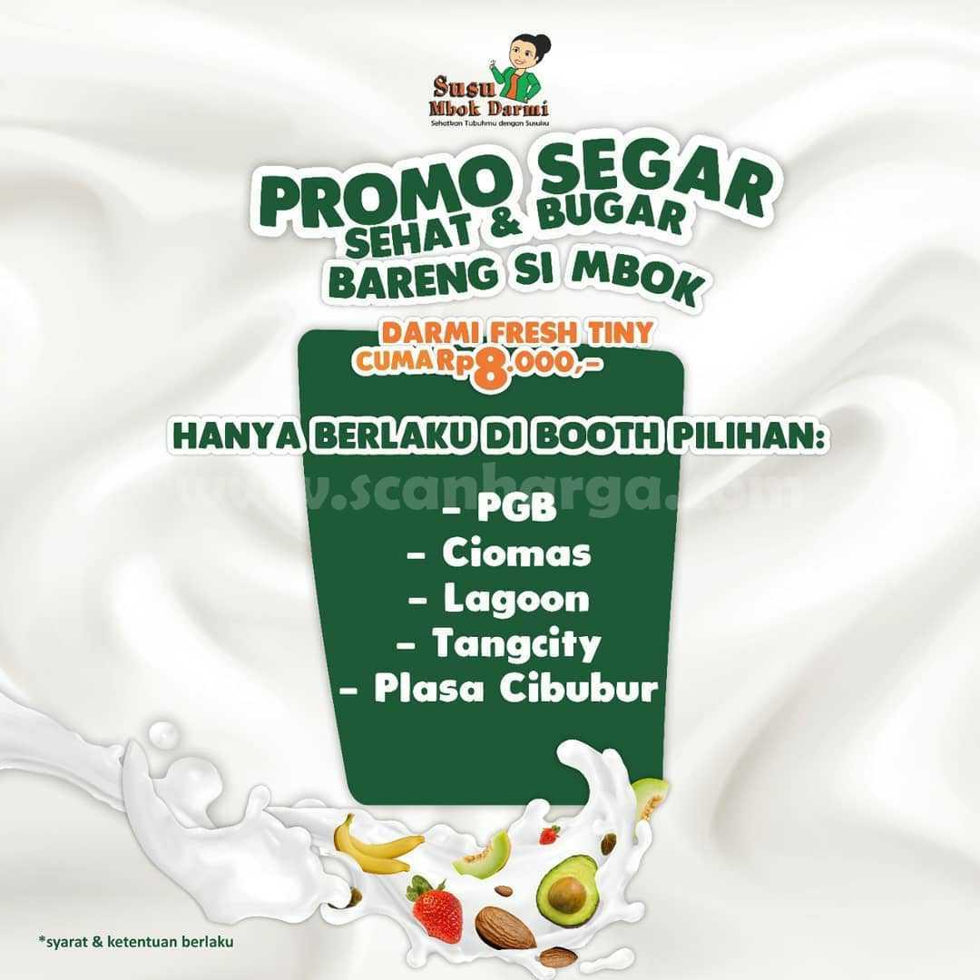Susu Mbok Darmi Promo SEGAR - Beli Darmi Fresh Tiny harga cuma Rp. 8.000 aja