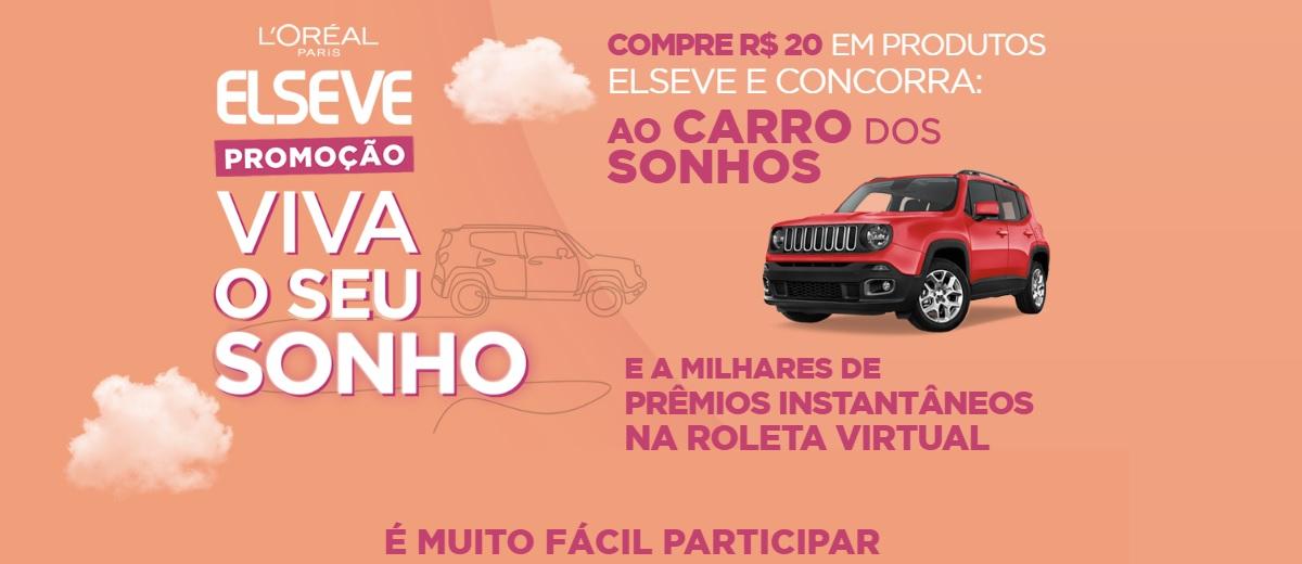 Promoção Elseve 2020 Viva Seu Sonho Jeep 0KM Carro dos Sonhos e Prêmios na Hora - Loreal