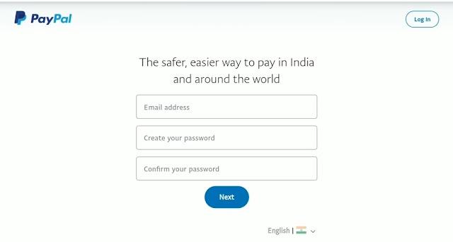 PayPal password