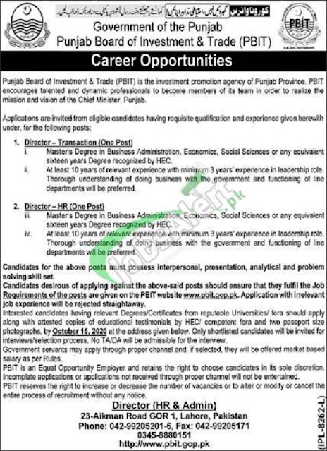 punjab-board-of-investment-trade-pbit-jobs-2020-application-form-latest