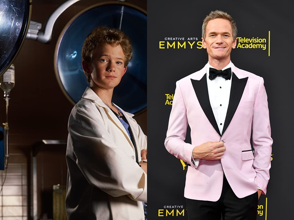 Neil Patrick Harris in 1989 and 2019