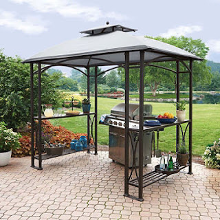 Grill Gazebo With Shelves