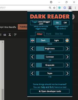tampilan gelam browser chrome