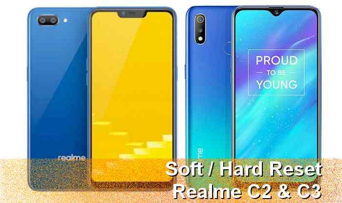 Cara Reset dan Restart HP Realme C2 dan C3