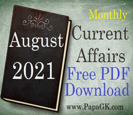August 2021 current affairs PDF download