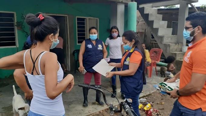 Alcaldía avanza en el proceso de atención a la emergencia por inundación en el corregimiento de Guachaca