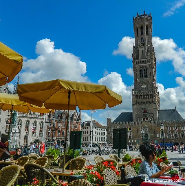 restaurantes no Markt, Praça do Mercado de Bruges