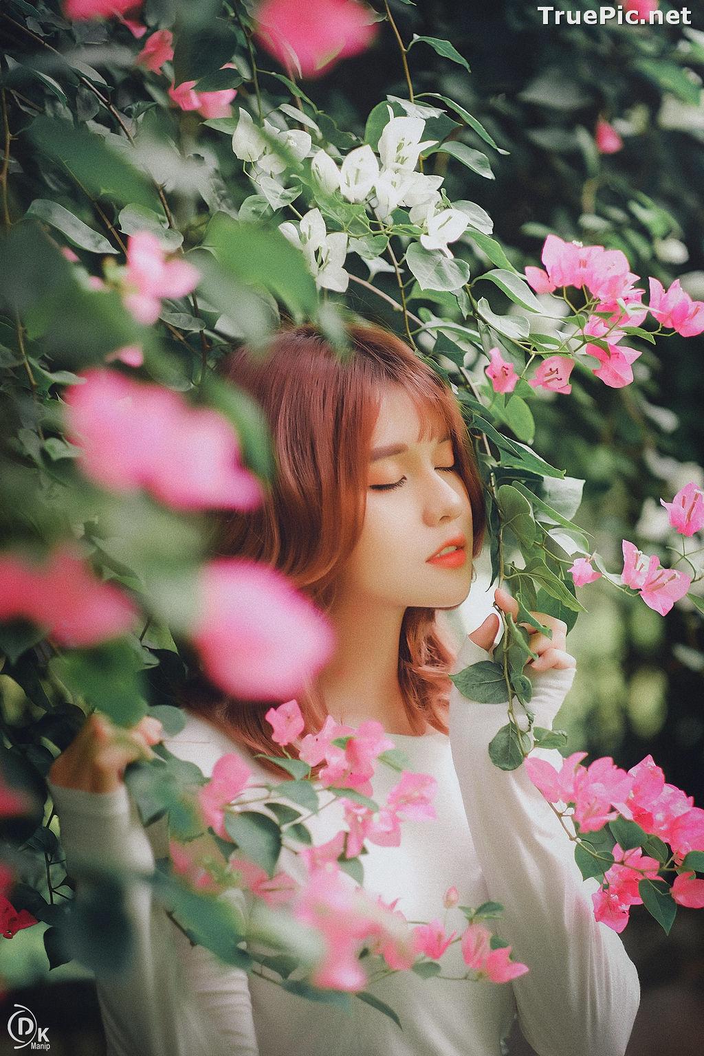 Image Vietnamese Beautiful Model - Bougainvillea Flowering Season - TruePic.net - Picture-20