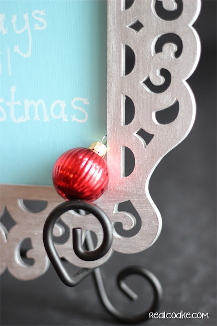 Laser cut frame turned into a cute and simple to make Christmas Countdown from #RealCoake