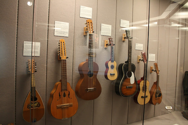 An adventure the string instruments at the Kenosha Public Museum.
