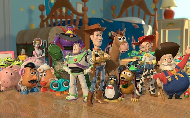Imagen promocional de la película de animación Toy Story