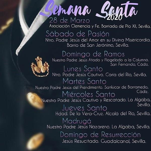 Semana Santa 2020 para la Agrupación Musical Ntro. Padre Jesús Nazareno de La Algaba