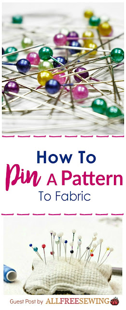How to Pin a Pattern to Cut Fabric - awesome for anybody who has just started learning how to sew!