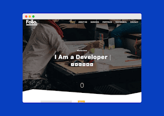 Folio blogger template Free Download |